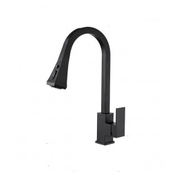 Kitchen faucet - Single Handle One Hole Painted Finishes Pull-out,Pull-down,Tall,High Arc Centerset Contemporary Kitchen...