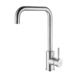 FOFO Single Handle High Arc Brushed Nickel 360 degree Swivel Kitchen Faucet Single Level Stainless Steel Kitchen Sink Faucets