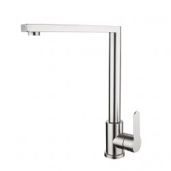 304 Stainless Steel Kitchen Faucet Lead-free Brushed Hot And Cold Dish Wash Basin Rotatable Faucet