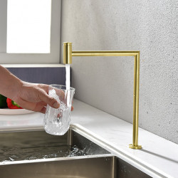 Kitchen faucet - Single Handle One Hole Black,Brushed Gold Purified water Centerset Contemporary Kitchen Faucet