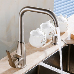Kitchen faucet - Single Handle One Hole Electroplated Standard Spout Ordinary Kitchen Faucet