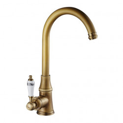 Kitchen faucet - Single Handle One Hole Electroplated Standard Spout,Tall,High Arc Centerset Contemporary Kitchen Faucet