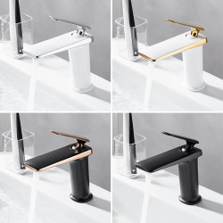 Bathroom Sink Faucet - Waterfall Electroplated,Painted Finishes Centerset Single Handle One HoleBath Faucet