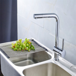 All Copper Hot And Cold Vegetable Basin Faucet Rotating Kitchen Faucet Hot And Cold Mixed Water