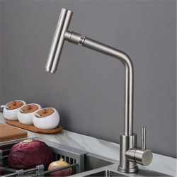 304 stainless steel kitchen hot and cold faucet sink sink sink sink type universal swivel faucet