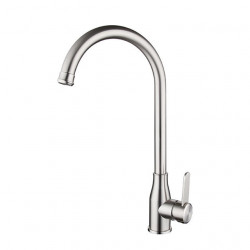 304 Stainless Steel Kitchen Faucet Lead-free Drawing Hot And Cold Dish Washing Basin 360 Degree Rotating Faucet